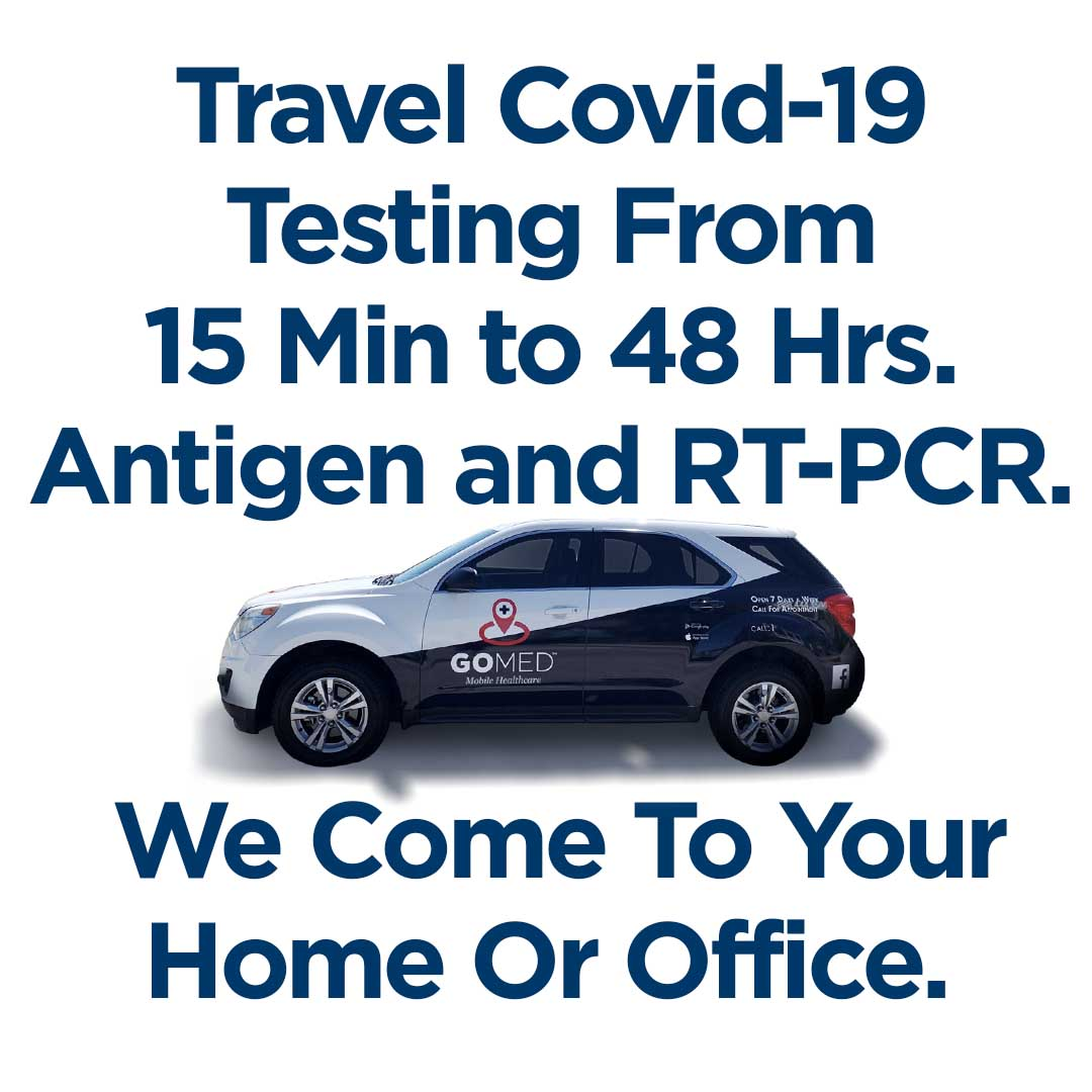 Covid-19 Testing from 15 minutes to 48 hours.