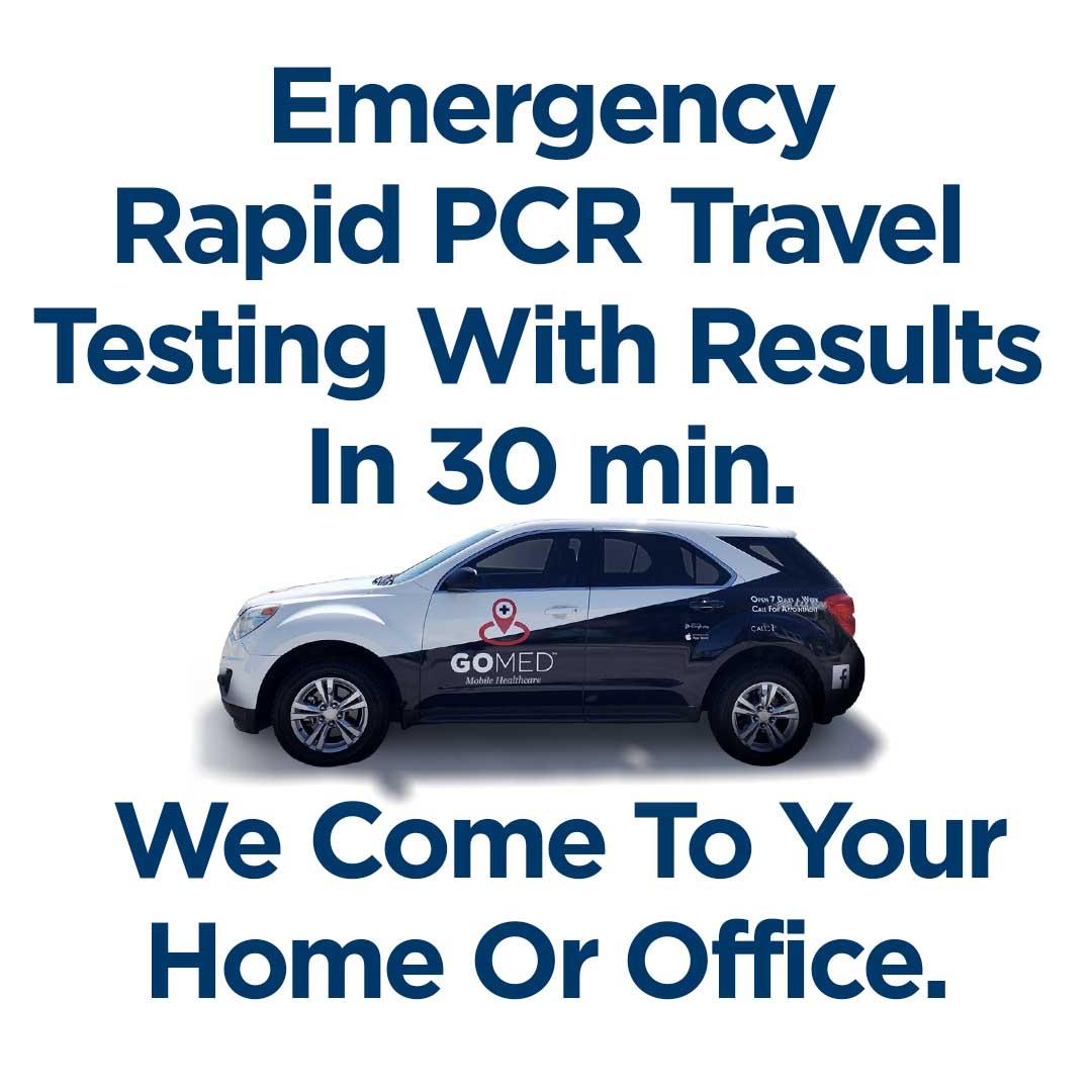 Emergency Rapid PCR Travel 30 Minute Testing